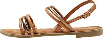 Inuovo Womens Shoes Low Sandal in Leather And Laminated Leather Bronze 459016COCONUT Beige Size: 8.5 UK