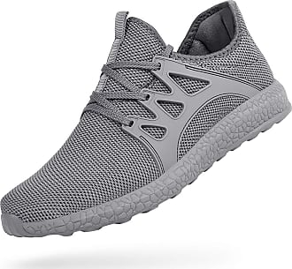 Zocavia Men Women Trainers Lightweight Running Sports Shoes Outdoor Non Slip Walking Gym Fitness Athletic Shoes Grey