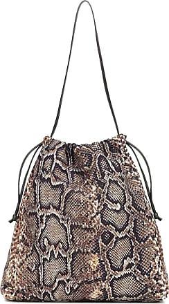 Victoria Beckham Snake-effect drawstring bucket bag