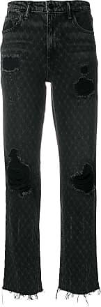 Alexander Wang Calça jeans desfiada - Preto