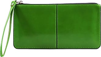 LeahWard Womens Faux Leather Wristlet Purse Nice Bag Great Brand Purses 20146 (GREEN)