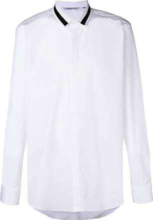 Neil Barrett Camisa com listras na gola - Branco