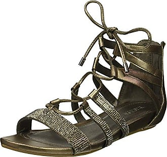 Kenneth Cole Reaction Womens 7 Lost Look Gladiator Laceup Sandal, Pewter, 8.5 M US