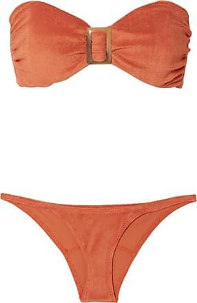 f19e3cd2f2 Lisa Marie Fernandez Bikini En Molleton De Coton Mélangé À Ornements -  Orange