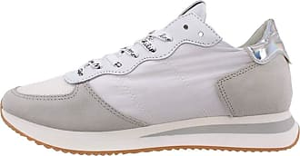 Philippe Model Womens Sneakers Paris TZLD WB01 Leather White Iris