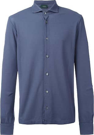 Zanone Camisa de tricô - Azul
