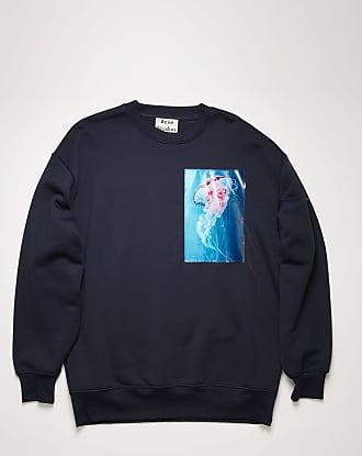 Acne Studios FN-MN-SWEA000114 Navy blue Jellyfish-patch sweatshirt