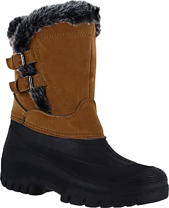 Groundwork Womens Mucker Stable Yard Winter Snow Zip Up Boots Wellies Tan UK6
