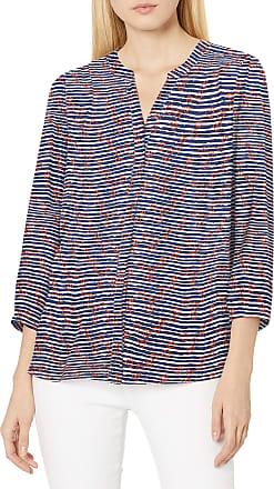 NYDJ Womens 3/4 Sleeve Pintuck Blouse, Nautical Hearts, Medium