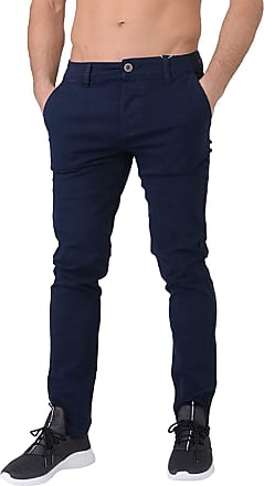 Crosshatch Mens Chinor Chino Trousers - Night Sky - 36 Regular