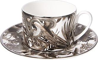Roberto Cavalli Tropical Jungle Teacup & Saucer - White