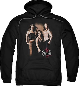 Popfunk Charmed Three Hot Witches Unisex Adult Pull-Over Hoodie for Men and Women Black