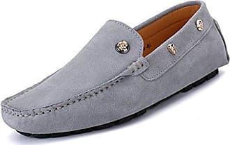Eagsouni Herren Mokassins Bootsschuhe Wildleder Loafers Schuhe Flache Fahren  Halbschuhe Sommer Beiläufig Slippers Hausschuh 2a30b1779f