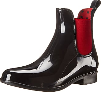 Ralph Lauren Womens Tally Rain Boot, Black/Rl Bright Red, 3.5 UK