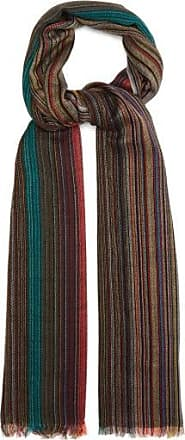 Paul Smith Artist And Signature-striped Wool Scarf - Mens - Multi