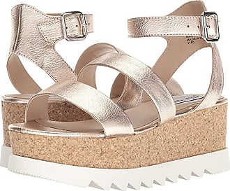 3051d0f8d0e Steve Madden Kirsten Cork Platform Wedge Sandal (Rose Leather) Womens Shoes