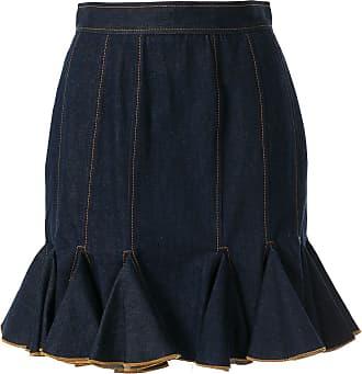 Karen Walker flared hem skirt - Blue