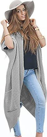734cbf2d80 Mikos Collection Damen Cardigan Lang Pulli Pullover Strickjacke Wasserfall  Oversize S M L 36 38 40 (629