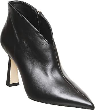 Office Millicent- Flared Heel Shoeboot Black Leather - 5 UK