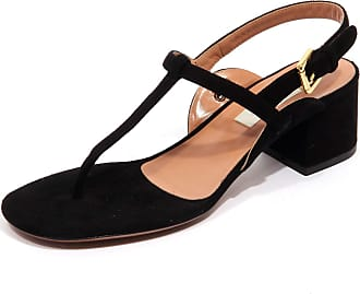 L'autre Chose F9514 Infradito Donna Black Suede Shoe Woman [35]