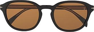 David Beckham Óculos de sol redondo com lentes coloridas - Preto