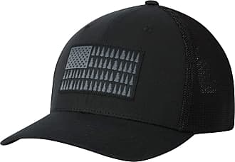 Columbia Mens Mesh Tree Flag Ball Cap Baseball, Black, L/X-L