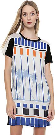 Calvin Klein Jeans Vestido Calvin Klein Jeans Curto Palm Off-White/Preto