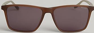 Hackett Two-Tone Square Sunglasses | Brown