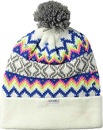78a6a145 Coal Mens The Winters Fine Knit Nordic Beanie Hat Pom, White Tall
