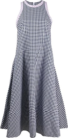 Ymc You Must Create checked vest dress - Blue