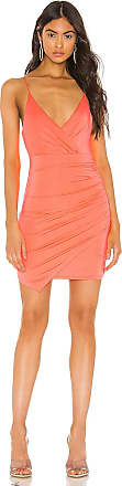 Superdown Hilary Ruched Wrap Dress in Orange