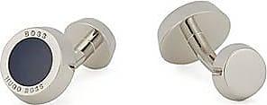 BOSS Round cufflinks with contrast enamel core