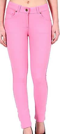 Parsa Fashions Ladies Skinny Fit Coloured Jeggings Womens Strechy Pants (UK 8-26) (22, Baby Pink)