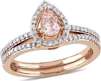 ecbdb0f45 Zales Pear-Shaped Morganite and 1/3 CT. T.w. Diamond Frame Bridal Set