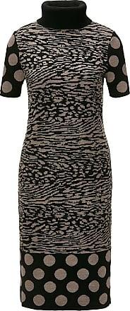 Madeleine Strickkleid mit Rollkragen in dunkelbraun MADELEINE Gr 34, schwarz für Damen. Polyacryl, Schurwolle, Wolle. Waschbar