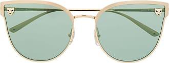Cartier Óculos de sol gatinho Panthère - Dourado