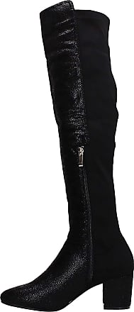 Swankyswans Jessica Knee High Glitter Sparkle Detail Warm Winter Boots Block Heel Black UK Size 3 / EU 36