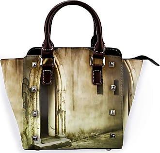 Browncin Dark Creepy Tree Scary Entrance Castle Window Door Opening Landmarks Detachable Fashion Trend Ladies Handbag Shoulder Bag Messenger Bags