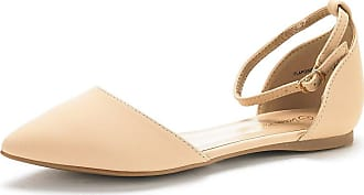 2e859f405 Dream Pairs Womens Flapointed-New Nude Nubuck DOrsay Ballet Flats Shoes -  5.5 M US