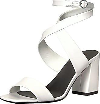 Via Spiga Womens Evelia Ankle Wrap Sandal, Porcelain Leather, 5.5 M US