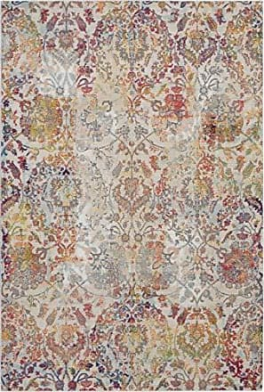 Nourison Global Vintage White and Orange French Country Area Rug 4 x 6