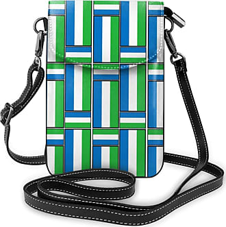 NA Cell Phone Purse Small Crossbody Sierra Leone Flag Puzzle Wallet Bags With Adjustable?Shoulder Strap Women