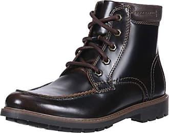 Clarks Mens Currington High Boot, Dark Brown Leather, 10.5 M US