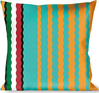 Buckle Down Pillow Decorative Throw Zarape6 Vertical Stripe Gold Blues Black Red