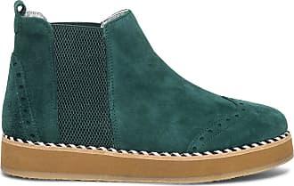 d8ccb071cbfec Ippon Vintage Chelsea boots à plateforme IPPON VINTAGE vert en cuir velours