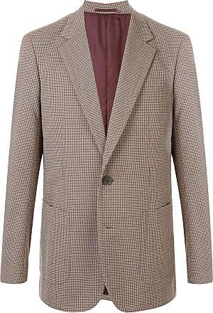 Kolor houndstooth patterned double pocket blazer - NEUTRALS