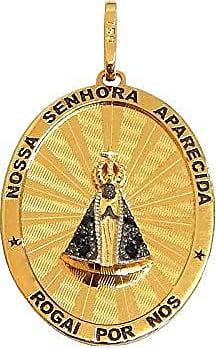Prado Joias Pingente Em Ouro 18k Nossa Senhora Com Safiras Naturais