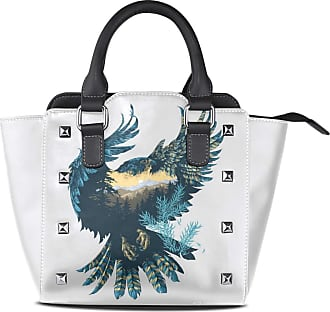 NaiiaN Tote Bag Love Handbags for Women Girls Ladies Student Purse Shopping Leather Bird Art Scenery Abstract Shoulder Bags Light Weight Strap