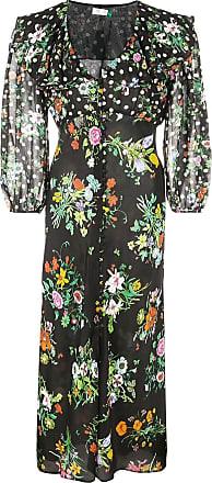 Rixo Vestido floral Bonnie - Preto