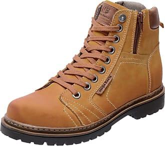 dedf978a56c Mega Boots Bota Coturno em Couro Mega Boots 6016 Amarelo